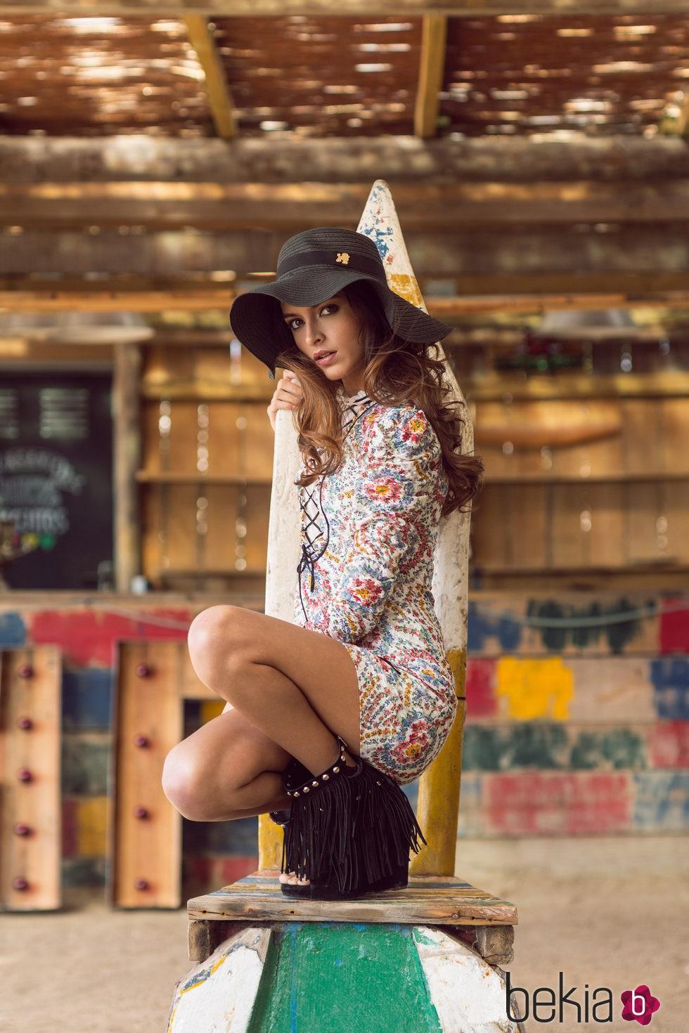 Lucía Rivera Romero con vestido de la primavera/verano 2016 de Highly Preppy