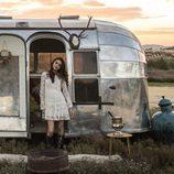 Lucía Rivera Romero con un vestido blanco hippie de la primavera/verano 2016 de Highly Preppy