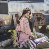 Lucía Rivera Romero con vestido rosa pastel con florecitas de la primavera/verano 2016 de Highly Preppy