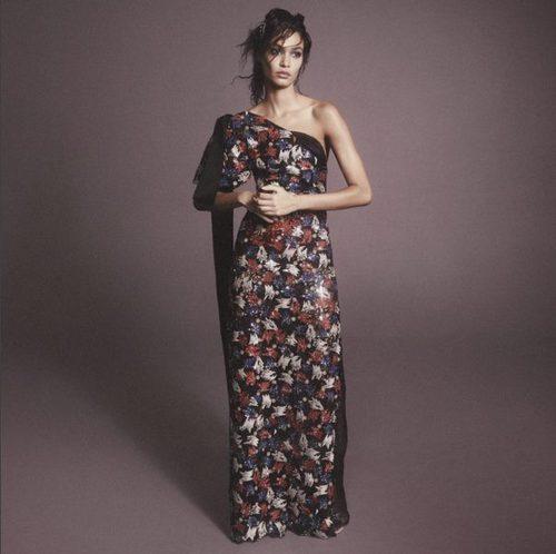 Vestido largo de gasa con estampado floral de Marc Jacobs