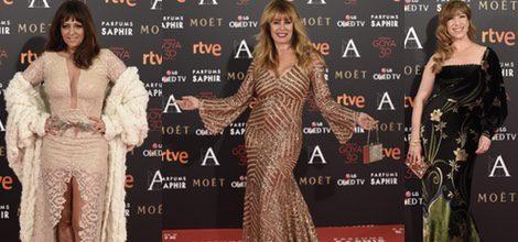 Yolanda Ramos con vestido de Marco Souza en la alfombra roja de los Premios Goya 2016