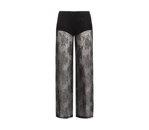 Pantalón de pijama de raso en negro de la nueva colección ONE LOVE para San Valentín de Yamamay