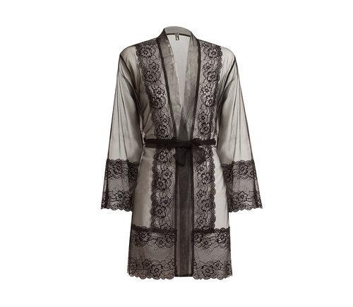 Bata de raso en tonos grises de la nueva colección ONE LOVE para San Valentín 2016 de Yamamay
