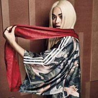 Rita Ora con kimono y fular para nueva campaña para Adidas