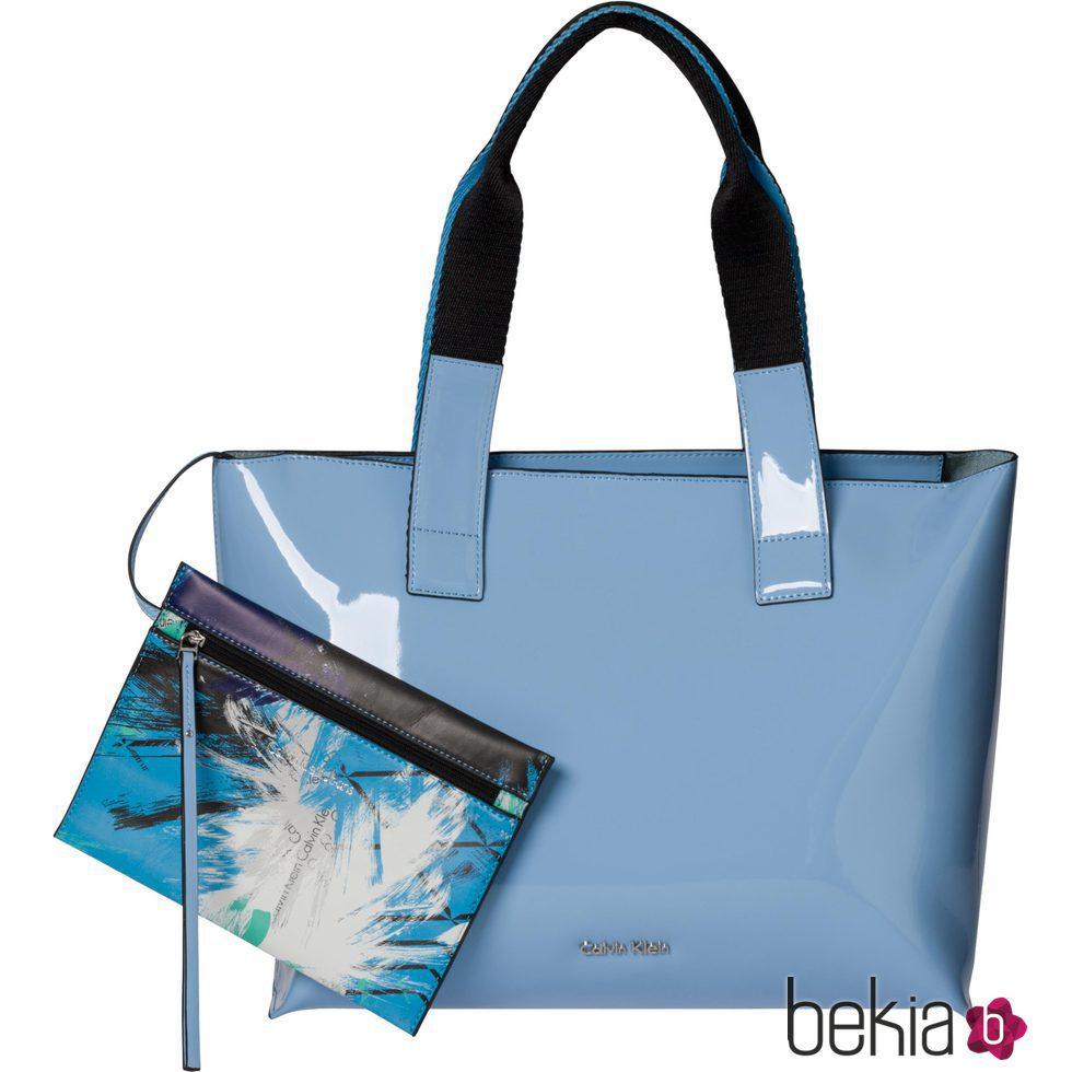 Claro Calvin Monedero Artístico Bolso De Para Azul Klein Con HW2EI9D