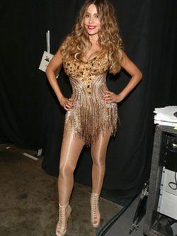 Sofía Vergara junto a Pitbull en los Grammy 2016