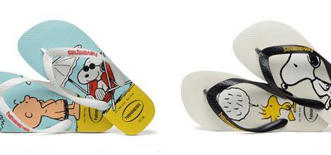 Chanclas con Charlie Brown y Snoopy de Havaianas