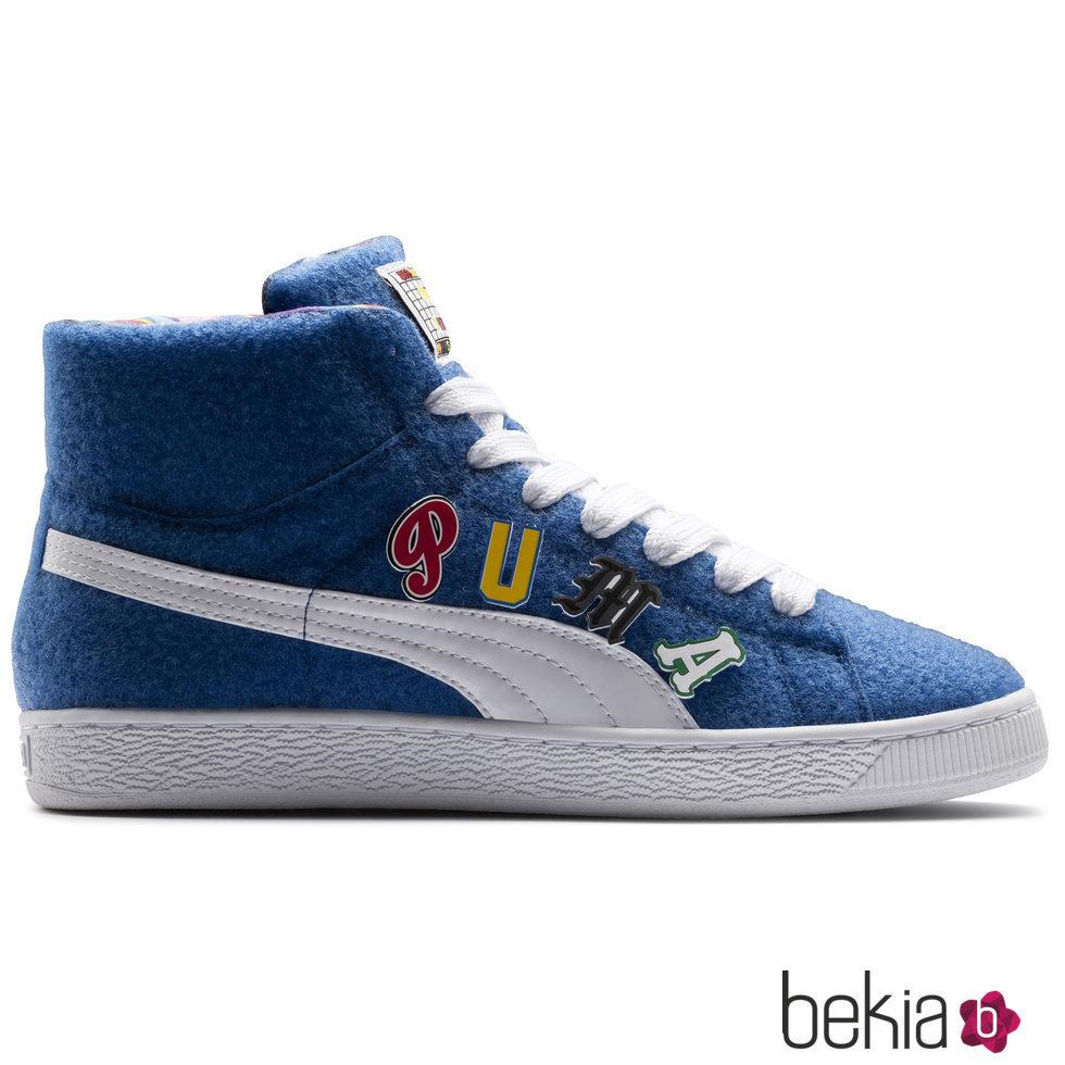 Botín deportiva azul de Puma x Dee & Ricky