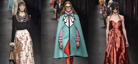 Falda plisada de Gucci en la FW de Milán para otoño/invierno 2016/2017