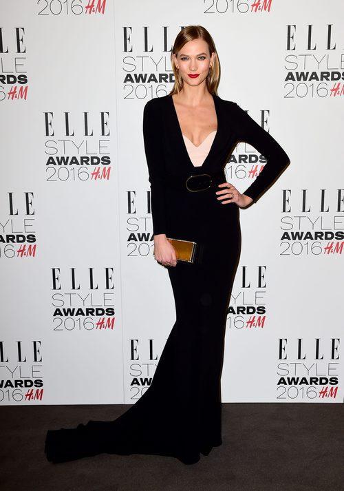 Karlie Kloss con un diseño de noche de Stella McCartney en los Elle Style