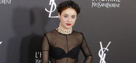 Miranda Makaroff en el aniversario de 'L'Homme' de Yves Saint Laurent en Madrid con un total black look