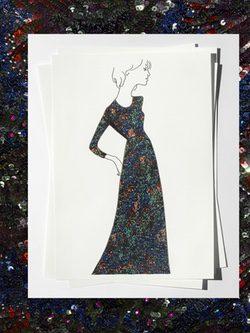 Boceto de uno de los vestidos diseñados por Burberry para Adele