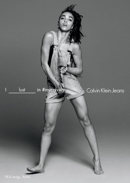 FKA posa con Calvin Klein en la coleccion primavera/verano 2016