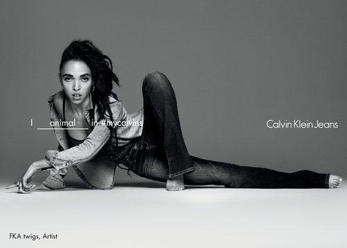 Calvin Klein y FKA twigs en la campaña primavera/verano 2016