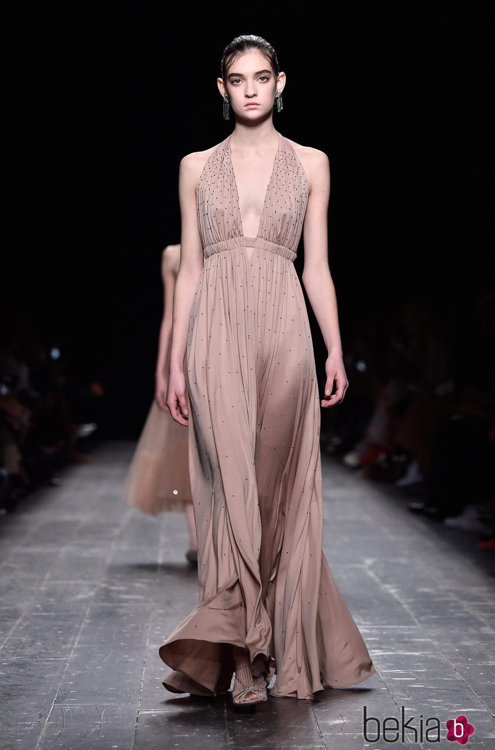 Vestido De Noche De Las Mujeres Moda Vintage Colores Mode