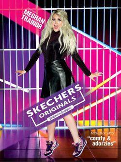 La cantante Meghan Trainor imagen de la nueva campaña de Skechers 2016