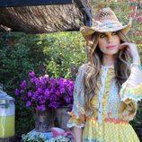 Vanesa Romero con un sombrero de la colección primavera/verano 2016 de Namdalay