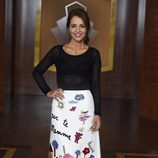 Paula Echevarría con vestido de D&G en la presentación de Velvet