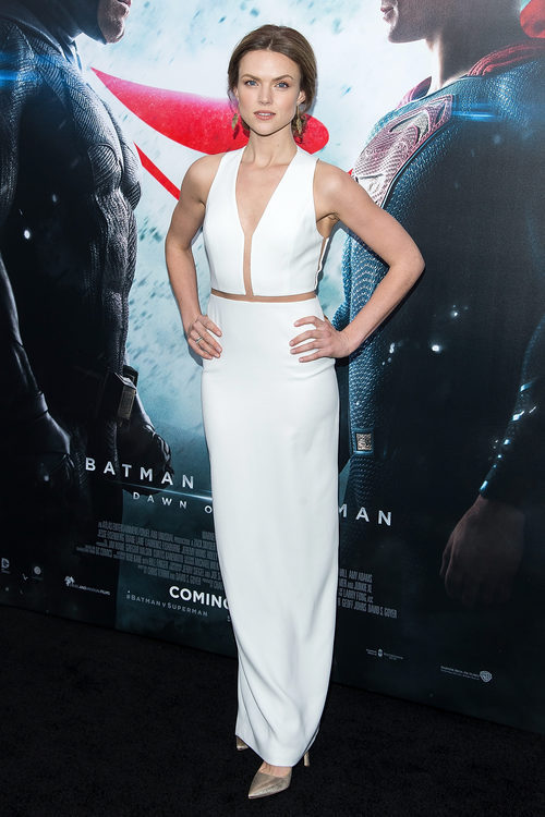 Erin Richards en la presentacion de Batman vs Superman de Nueva York