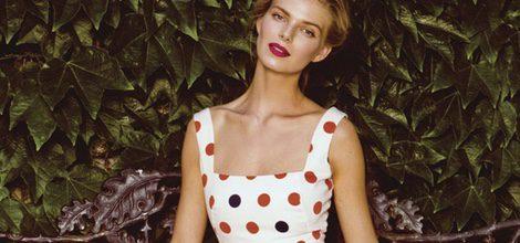Vestido falda campana con movimiento y escote recto colección Primavera/ Verano 2016 de Dolores Promesas