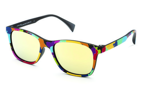 Gafas con marco de colores y lente amarillo de la colección primavera/verano 2016 de Italia Independent
