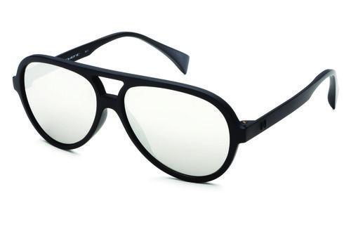 Gafas tipo piloto de marco negro y lente claro de la colección primavera/verano 2016 de Italia Independent