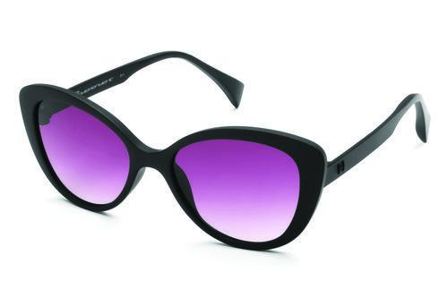 Gafas tipo cateyes de marco negro y lente rosado de la colección primavera-verano-2016 de italia Independent