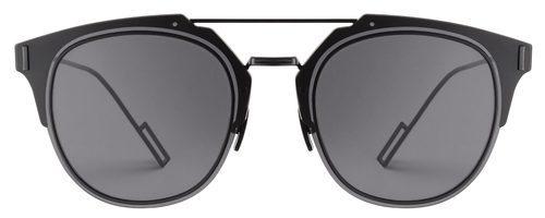 Frontal de las gafas de sol negras de la nueva colección de Dior Homme
