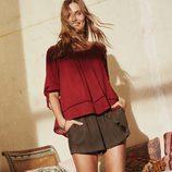 Camisa granate y pantalón corto de la campaña Road to Morocco Primavera/Verano 2016 de Primark