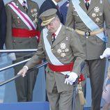 Looks Día de la Hispanidad: El Rey Juan Carlos con muleta