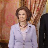 Looks Día de la Hispanidad: La Reina Sofía en el Palacio Real