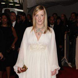 La diseñadora Sarah Burton en la gala del MET 2011