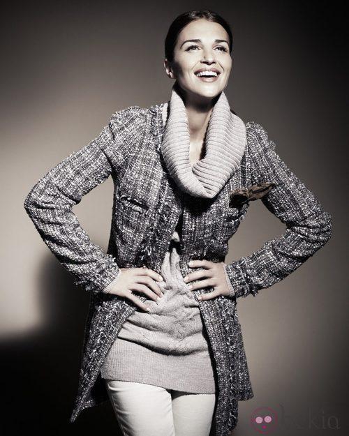 Paula Echevarría para Blanco Tweed Gris