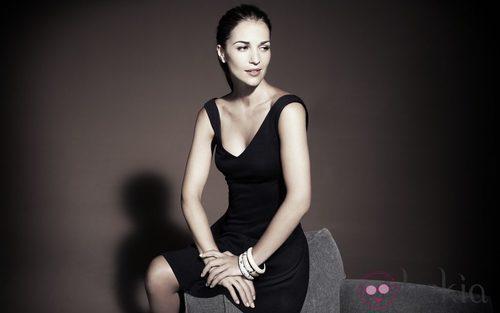 Paula Echevarría para Blanco Vestido Negro