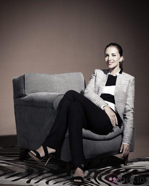 Paula Echevarría para Blanco Chaqueta Tweed