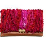 Nueva Colección Abataba 2011: Bolso de mano de piel, con seda sari y un broche africano