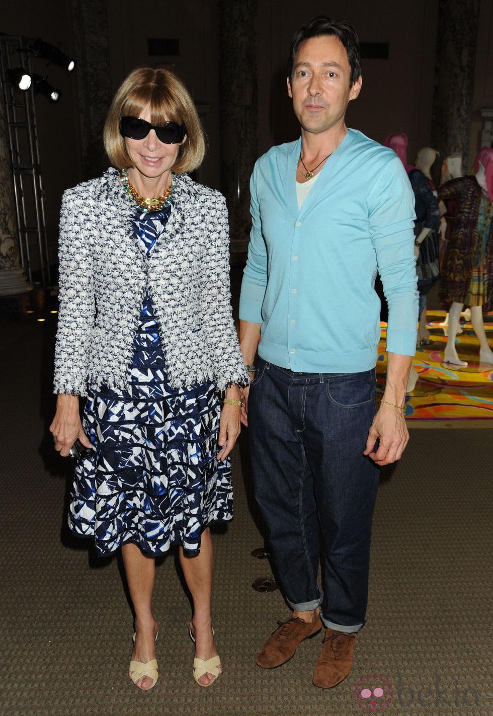 Anna Wintour junto a Gregory Parkinson