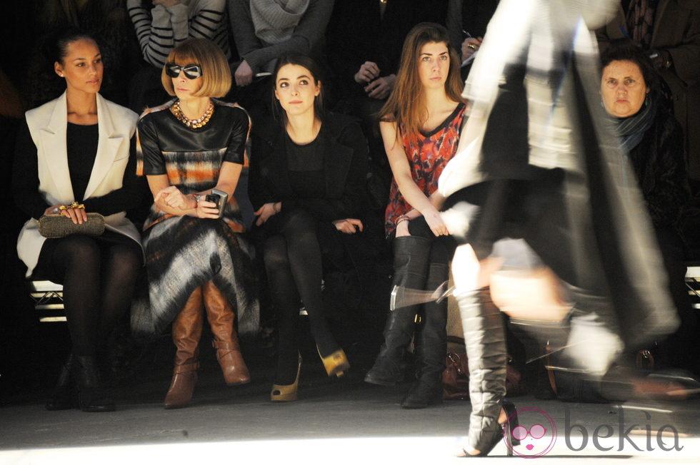 Anna Wintour, en el front row