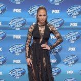 Jennifer Lopez con vestido de Zuhair Murad en American Idol