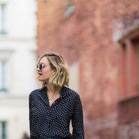 Vaquero y blusa de lunares de la colección Mon Amour primavera/verano 2016 de Uterqüe