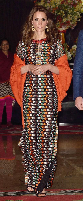 Kate Middleton dejando su hotel en Thimphu, Bhutan