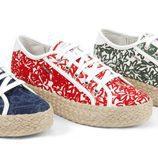 zapatos de tela, plataforma de esparta de la colección Geox for Valemour 2016.