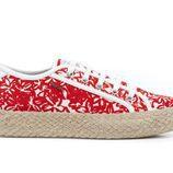 zapatos de tela rojos de la colección Geox for Valemour 2016.