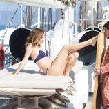 Blanca Suárez posa como nueva imagen en el making of de Women's Secret