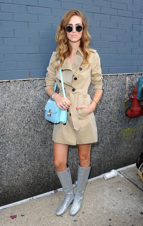 Chiara Ferragni en la Semana de la Moda de Nueva York Primavera/Verano 2015
