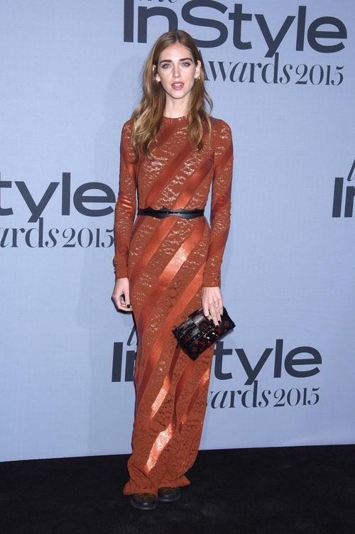 Chiara Ferragni en los InStyle Awards 2015.