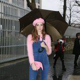 Chiara Ferragni durante la presentación de la colección de Loewe en la Fashion Week Paris