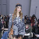 Chiara Ferragni durante la presentación de la colección de Cholé en la Fashion Week Paris