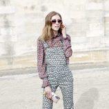 Chiara Ferragni durante el desfile de Elie Saab en en la Paris Fashion Week