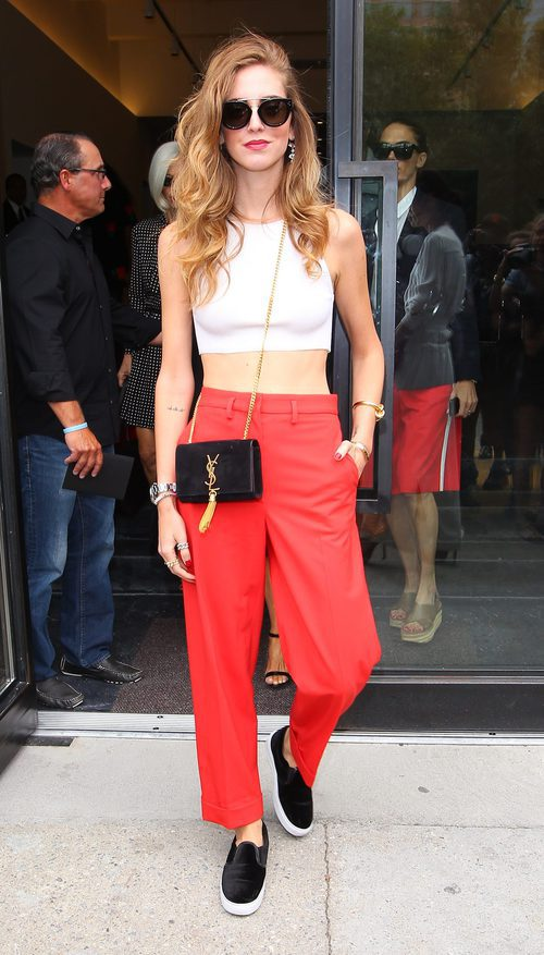 Chiara Ferragni durante el desfile de Marc Jacobs en la Nueva York Fashion Week Madrid